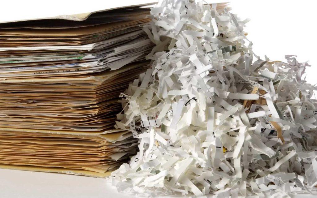 Уничтожение архивов и других документов, содержащих конфиденциальную информацию